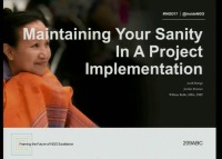 Maintaining Your Sanity in a Project Implementation