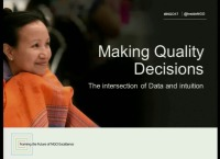 Making Quality Decisions: The Intersection of Data and Intuition