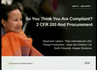 So You Think You Are Compliant? 2 CFR 200 and Procurement
