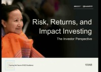 Risk, Returns, and Impact Investing: The Investor Perspective